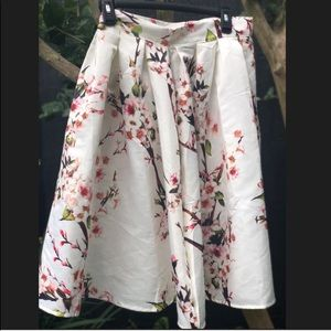 Women's Cherry Blossom 🌸 Sz. 2 Midi Skirt